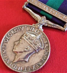1918-62 BRITISH GENERAL SERVICE MEDAL WW2 SE ASIA CAMPAIGN FRONTIER FORCE RIFLES