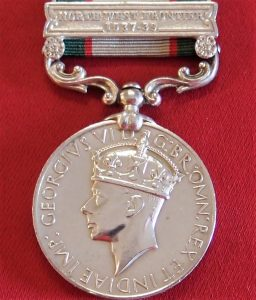 1936-39 BRITISH INDIA SERVICE MEDAL WW2 AFGHANISTAN SOUTH WAZIRISTAN SCOUTS 1937