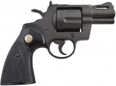 DENIX REPLICA GUN COLT PYTHON SNUB NOSE 357 MAGNUM REVOLVER PISTOL 2 INCH MODEL