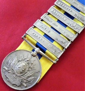 BRITISH EGYPTIAN ARMY KHEDIVES SUDAN MEDAL WITH 6 CAMPAIGN BARS 10TH SUDANESE INFANTRY