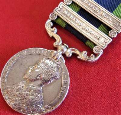 BRITISH INDIA GENERAL SERVICE MEDAL WW1 SOUTH WAZIRISTAN SCOUTS MAHSUD CAMPAIGNS