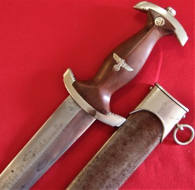 WW2 German S.A. Model 1933 1st pattern dagger & scabbard by Friedrich August Schmitz of Solingen