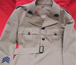WW2 AUSTRALIAN ARMY TROPICAL DESERT WEATHER UNIFORM JACKET & PANTS DAVID JONES