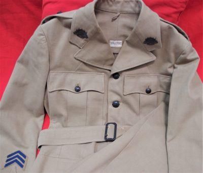 WW2 AUSTRALIAN ARMY TROPICAL DESERT WEATHER UNIFORM JACKET & PANTS DAVID JONES
