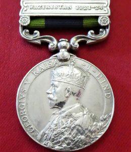 WAZIRISTAN 1921-1924 BRITISH INDIA GENERAL SERVICE MEDAL WW1 8TH PUNJAB REGIMENT