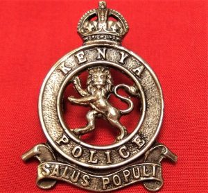 WW1 WW2 ERA KENYA POLICE UK MADE UNIFORM CAP BADGE FIRMIN LONDON