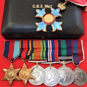 WW2 CBE MEDAL GROUP BRIGADIER ADAMS ROYAL ARTILLERY DEVELOPER ROCKET TECHNOLOGY