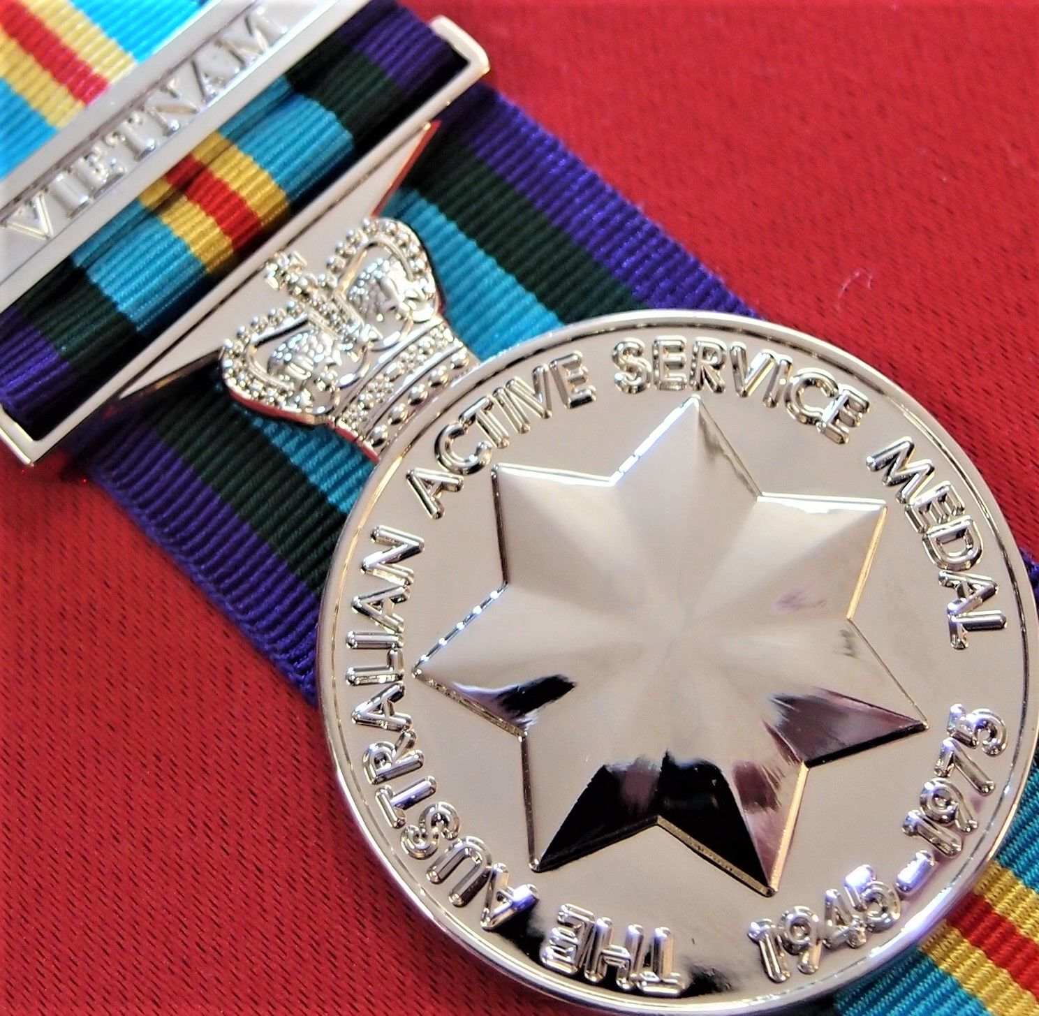 VIETNAM WAR ARMY NAVY AIR FORCE AUSTRALIAN ACTIVE SERVICE MEDAL 1945-75 REPLICA