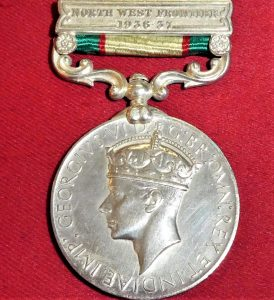 1936-39 BRITISH INDIA GENERAL SERVICE MEDAL WW2 AFGHANISTAN 12th MOUNTAIN BATTERY