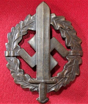 GERMAN NAZI SA SPORTS BADGE IN BRONZE