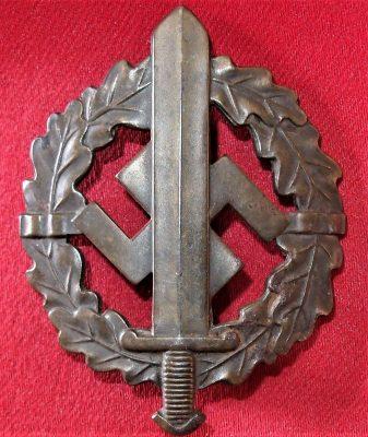 GERMAN NAZI SA SPORTS BADGE IN BRONZE