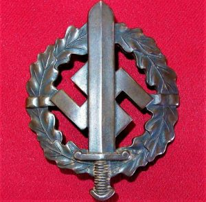 GERMAN NAZI SA SPORTS BADGE IN BRONZE 4