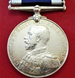 WW1 BRITISH NAVY LONG SERVICE GOOD CONDUCT MEDAL HMS ACTAEON NAVAL FLYING SCHOOL