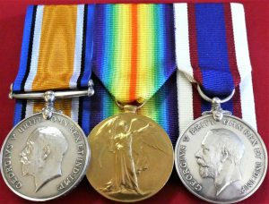 WW1 BRITISH NAVY RMLI CAMPAIGN MEDAL PAIR & ROYAL FLEET RESERVE LONG SERVICE