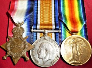 WW1 BRITISH ROYAL NAVY MEDAL GROUP STOKER PETER HAMILTON T2544 HMS RINALDO
