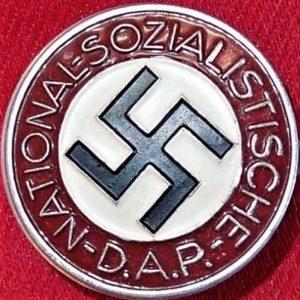 WW2 GERMAN NAZI PARTY ENAMEL LAPEL BADGE BY HANS DOPPLER OF WELS