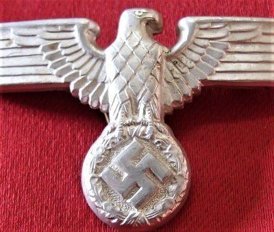 WW2 GERMAN NAZI PARTY S A  UNIFORM CAP EAGLE BADGE BY CHRISTIAN THEODORE  DICKE