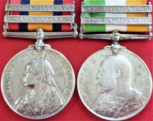 1st BN SUSSEX REGIMENT QUEENS KINGS SOUTH AFRICA BOER WAR MEDALS 4216 MAXFIELD