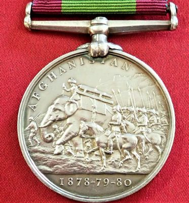BRITISH ARMY AFGHANISTAN 1878 80 MEDAL 1051 MORAN 2 14TH FOOT WEST YORKSHIRE