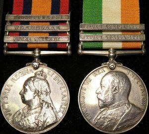STEINAECKER'S HORSE & KAFFARIAN RIFLES QUEENS/KINGS SOUTH AFRICA BOER WAR MEDALS