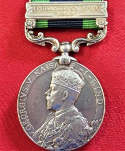 AMPSHIRE REGIMENT AFGHANISTAN BRITISH INDIA GENERAL SERVICE MEDAL 1919 WW1