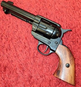 DENIX REPLICA GUN 1873 QUICK DRAW COLT PEACE MAKER REVOLVER PISTOL IN BLACK