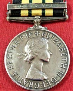 POST WW2 BRITISH ARMY AFRICA GENERAL SERVICE MEDAL KENYA CLASP MAU MAU