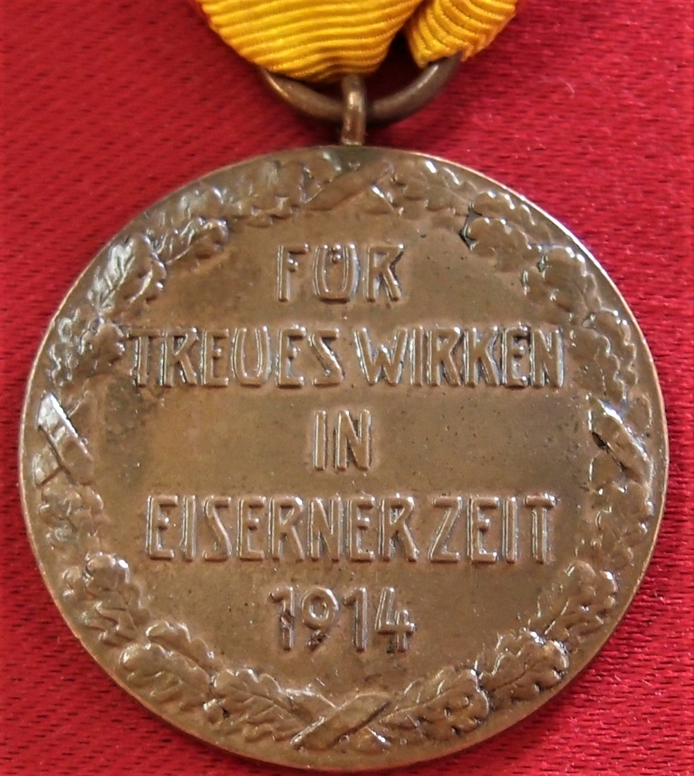 WW1 Germany Principality of Reuss medal for Faithful War Service