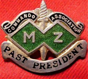 WW2 AUSTRALIAN ARMY M & Z SPECIAL FORCES ASSOCIATION BADGE COMMANDO
