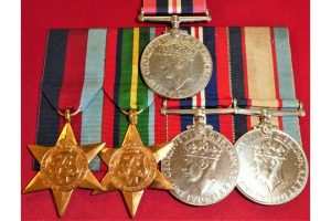 WW2 AUSTRALIAN ARMY MEDAL GROUP OF 4 CASUALTY LONERGAN PACIFIC NEW GUINEA