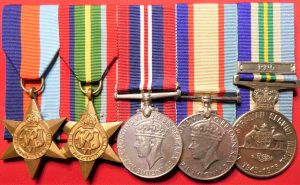 WW2 AUSTRALIAN ARMY MEDAL GROUP OF 5 QX33860 PACIFIC NEW GUINEA