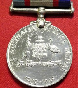 WW2 AUSTRALIAN SERVICE MEDAL 1939-45 ACCIDENTAL DEATH BIRRELL 2