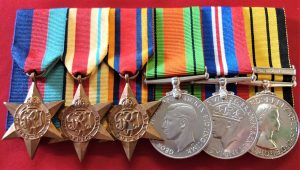 WW2 BRITISH ARMY & KENYA REGIMENT MEDAL GROUP CAPTAIN JOHN GORDON LAING MAU MAU