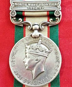 1936-39 BRITISH INDIA GENERAL SERVICE MEDAL WW2 AFGHANISTAN 11th SIKH REGIMENT