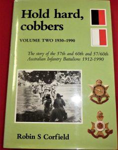BOOK AUSTRALIAN UNIT HISTORY HOLD HARD COBBERS 57TH 60TH BATTALION A.I.F. VOL 2