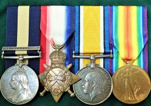 CAPE OF GOOD HOPE & WW1 MEDAL TRIO VON BROEMBSEN SOUTH AFRICAN HORSE QUEENSTOWN