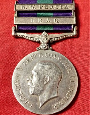 IRISH FUSILIERS 1918 BRITISH GENERAL SERVICE MEDAL WW1 IRAQ & NW PERSIA CAMPAIGN