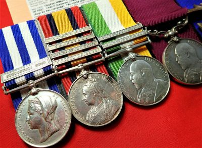 PRE WW1 BRITISH ARMY EGYPT & BOER WAR MEDAL GROUP ONLY 37 CLASP GEMAIZAH RAMC BARFOOT