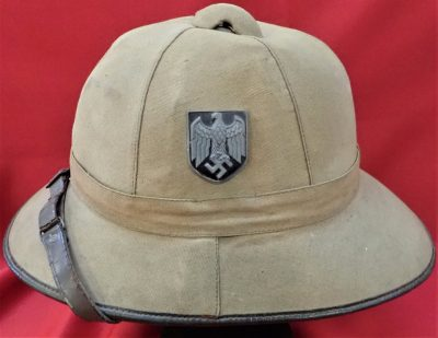 RARE GERMAN ARMY AFRIKA KORPS 1ST PATTERN UNIFORM PITH HELMET