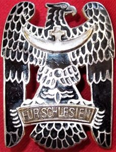 VINTAGE IMMEDIATE POST WW1 GERMAN SILESIAN EAGLE ORDER 1ST CLASS MEDAL BADGE