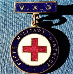WW1 ERA AUSTRALIAN V.A.D. HOSPITAL OREDERLY BADGE MEDAL WA 5TH MILITARY DISTRICT