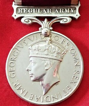 WW2 BRITISH REGULAR ARMY LONG SERVICE & GOOD CONDUCT MEDAL AWARD