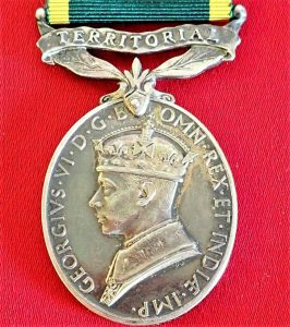 WW2 ERA BRITISH ARMY TERRITORIAL EFFICIENCY MEDAL1937-1948