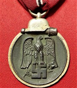 WW2 GERMAN NAZI RUSSIAN FRONT SERVICE MEDAL 1ST TYPE 1