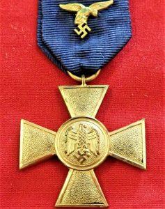 WW2 Germany Luftwaffe 25 Year Long Service Cross