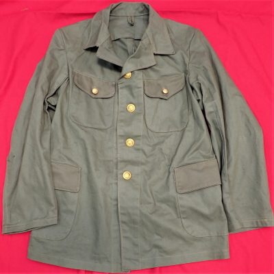 WW2 JAPANESE SPECIAL NAVAL LANDING FORCE GREEN FATIGUE UNIFORM SHIRT