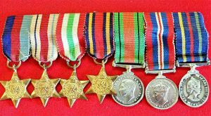Details about WW2 SET OF MINIATURE MEDALS SET OF 7 BRITISH ARMY SERVICE