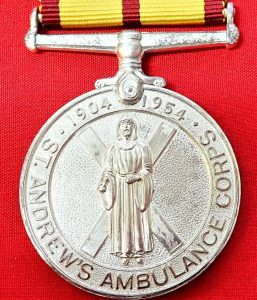 1901-1954 BRITISH ST ANDREWS AMBULANCE CORPS JUBILEE MEDAL GLASGOW