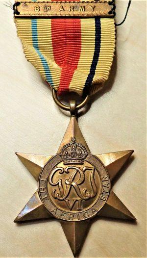 WW2 THE AFRICA STAR 8TH ARMY AUSTRALIA BRITISH WAR MEDAL 100% ORIGINAL ANZAC