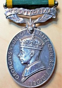 POST WW2 ERA BRITISH ARMY TERRITORIAL EFFICIENCY MEDAL 1948 - 1953